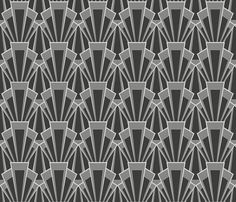grey deco - large fabric by crowlands for sale on Spoonflower - custom fabric, wallpaper and wall decals