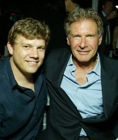 Benjamin Ford( 36 yrs) a chef, with Dad Harrison Ford