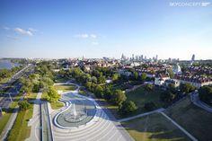 Multimedialny Park Fontann z lotu ptaka : ) - Warszawa, Śródmieście