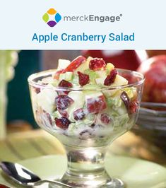 Great for when you just want to make a simply sweet summer salad without all the sugar. : Great for when you just want to make a simply sweet summer salad without all the sugar. Dessert Salads, Fruit Salad Recipes, Dessert Recipes, Fruit Snacks, Jello Salads, Fruit Salads, Apple Cranberry Salad, Apple Salad, High Fiber Fruits
