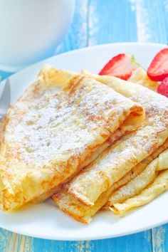 Authentic French Crepes Simple, delicious dessert