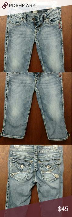 One day Sale!!  Silver Capri's Silver McKenzie crop Silver Jeans Shorts Jean Shorts