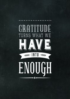Quote Chalkboard Print Gratitude Turns What We Have by phings