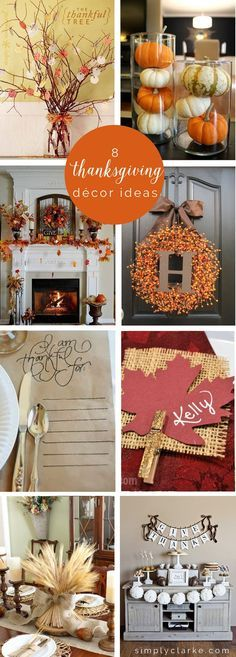 8 thanksgiving decor