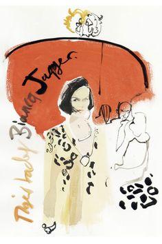 Bianca Jagger by David Downton