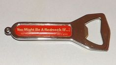 JEFF FOXWORTHY YOU MUST BE A REDNECK IF... BOTTLE OPENER AUTHORS COLLECTION | eBay-flagmanalwood