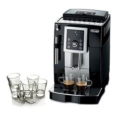 DeLonghi Magnifica S Black Super Automatic Espresso Machine with Free Set of 6 Italian Espresso Shot Glasses ** Check out the image by visiting the link. #EspressoMachine
