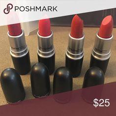 4 Mac Lipsticks New, Makeup Lipstick