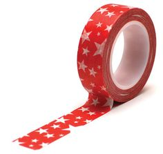 Trendy Washi Tape - Stars Red by MemoryMakinShoppe on Etsy