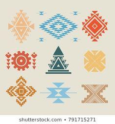 Similar Images, Stock Photos & Vectors of Esoteric Alchemy Boho Bohemian Sacred Geometry - 420496150 Pattern Art, Pattern Design, Punto Fair Isle, Native American Symbols, Native American Design, Aztec Culture, Muster Tattoos, Tribal Patterns, Sacred Geometry