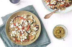 Quinoa met gegrilde groenten en feta – SKINNY SIX