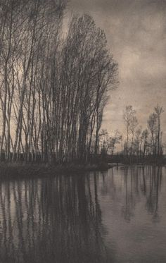 Frederick H. Evans - On a French River, 1906-1907