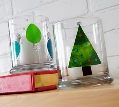 Make glass clings with Mod Podge and paint - GREAT project for kids and the products are safe.