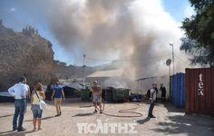 Tα πάντα όλα εδώ News !: Εκτεταμένα επεισόδια και φωτιά στη Σούδα !