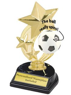 3-Star Spinner Soccer Trophy   | K2 Trophies and Awards
