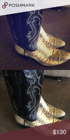 Mens Vintage Dan Post rattlesnake skin boots Mens Vintage Dan post rattlesnake skin boots size 9 1/2 D in amazing condition Dan Post Shoes Boots