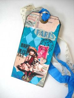 Paris Tag, Girl and Bulldog by The Altered Diaries
