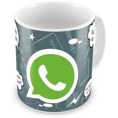 Caneca de Porcelana WhatsApp - ArtePress - Brindes em Almofadas, Canecas, Copos, Squeeze