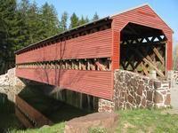 Sach's Covered Bridge.... Creepy location.  Gave you an odd feeling!