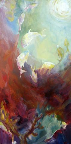 "'Towards', acrylic on canvas, 24"" x 48"" x 1.5"", by Nicky Torkzadeh"