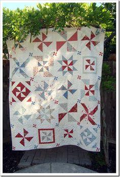 love this pinwheel quilt!