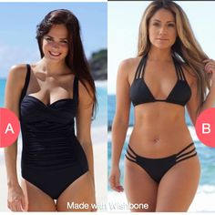 What do you like to wear most? Full or bikini? Click here to vote @ http://getwishboneapp.com/share/8561595