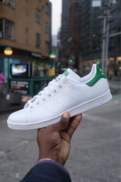 Style meets sustainability in the latest Stan Smith sneaker. Featuring a PRIMEGREEN upper made with 50% recycled content, the iconic silhouette is now truly timeless. Available in-stores and online. #STANSMITHFOREVER #ENDPLASTICWASTE #sneakers