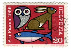 Switzerland Postage Stamp: Pro Fauna by karen horton, via Flickr