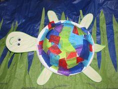 tissue paper turtle  Amazing Creatures Unit