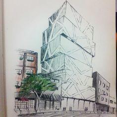 Novo Museu de Arte Contemporânea de Belo Horizonte - Projeto Pessoal #architecture #arquitetura #desing #croqui #arquiteturacontemporanea #contemporaryarchitecture #belohorizonte