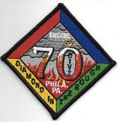 "Philadelphia  Engine - 70 / Div - 2 ""Diamond in Rough"", PA (4"" x 4"") fire patch"