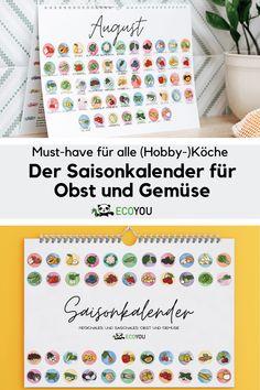 Mit unserem Saisonkalender für Obst und Gemüse hast du den Überblick, was du gerade guten Gewissens kaufen kannst. Zu jeder Jahreszeit zeigt er dir in einzeln Illustrierten Bilder, welche Frucht und welches Gemüse jetzt reif ist.Unsere Gemüsekalender werden nachhaltig von einer regionalen Druckerei gedruckt. Die Druckfarben sind auf Basis nachwachsender Rohstoffe. Alle Saisonkalender sind damit klimaneutral und Made in Germany. Er eignet sich außerdem super als nachhaltige Geschenkidee. Zero Waste, Bullet Journal, Simple, Print Store, Healthy Life, Wall Calendars, Fruit And Veg