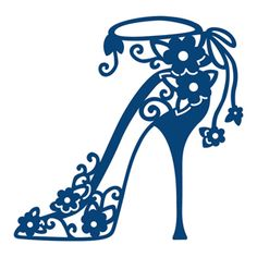 Tattered Lace Dies High Heel Bella TTLD 188 for Cards Scrapbooking for sale online Stencil Patterns, Embroidery Patterns, Machine Embroidery, Lace Stencil, Stencil Designs, Silhouette Cameo Projects, Silhouette Design, Silhouette Studio, Kirigami