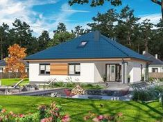 DOM.PL™ - Projekt domu ARP TRYTON 3 B CE - DOM AP2-28 - gotowy koszt budowy Mansions, House Styles, Outdoor Decor, Home Decor, Luxury Houses, Interior Design, Home Interior Design, Palaces, Mansion