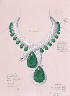 A jubilee year. Cartier celebrated its 150th anniversary with exceptional Fine Jewelry creations including a necklace in the form of a serpent, paved with diamonds and set with two pear-cut emeralds of 205 and 206 carats.