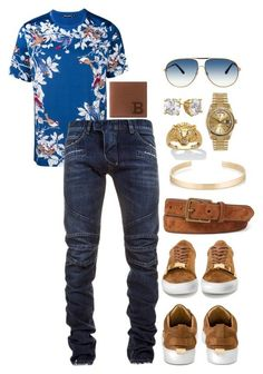 """""""Untitled #370"""" by scannedbyaaron ❤ liked on Polyvore featuring Dolce&Gabbana, Balmain, Polo Ralph Lauren, Bally, Tom Ford, Le Gramme, Palm Beach Jewelry, Rolex, men's fashion and menswear"""