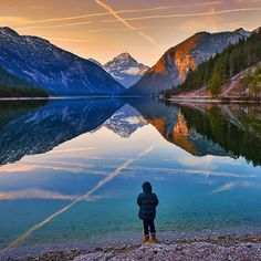 "- ""Sunset at Plansee Austria"