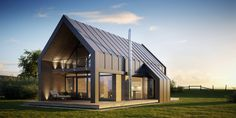 Family house is part of Residential Landscape architecture Peter O'toole - Client Petrosi group, s r o © Barracasa Modern Barn House, Modern House Design, Contemporary Barn, Shed Homes, Big Houses, Family Houses, Home Fashion, Future House, Building A House