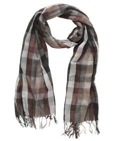 Checked crushed scarf by JAG