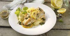 Hunger?  Zitronen-Hähnchen-Schnitzel mit Minze und Kapern - von Deutsches Geflügel  http://www.starcookers.com/detailseite/recipe/zitronen-haehnchen-schnitzel/