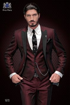 Groom Tuxedo Suit Groomsmen Men Wedding Prom Suits New Brand Groom Tuxedo Suit Custom Made Wine Red Men Suits Terno Slim Fit Peaked Lapel Groomsmen Men Wedding Prom Suits Costume En Lin, Mode Costume, Costume Rouge, Burgundy Suit, Red Suit, Wedding Men, Wedding Suits, Grey Tuxedo Wedding, Prom Tuxedo