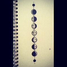 lunar cycle tattoos - Google Search