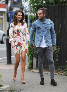 TOWIE's Megan McKenna dazzles in thigh-skimming floral dress with beau Pete Wicks | Daily Mail Online