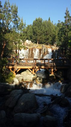 One of the waterfalls at California Adventure