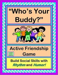 This game needs EVERY SINGLE KID in your class!    Play this active GROUP GAME, and start your day with humor, movement, rhythm, and recognition of each kid.  Includes 7 Rhyming Verses, 7 Word / Picture Posters for game play (and Word Wall), and Class Name Cards.  Build SOCIAL SKILLS as you start each day!  (18 pages)  From Joyful Noises Express TpT!  $