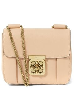 Chloe Beige Small Elsie Leather Bag | Chloe | Pinterest | Leather ...