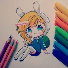 """Sharpie and color pencil faber castell eco"" Una Fiona pah lah banda~ No son los…"
