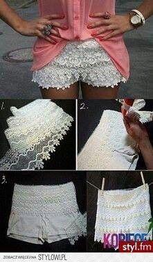 DIY ruffle shorts