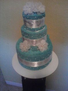 Wedding Towel Cake by LaLaslovecakes on Etsy