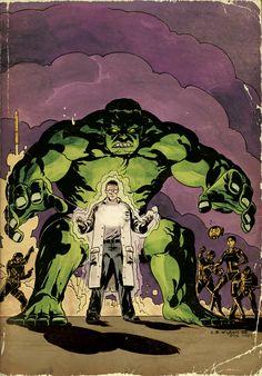 Hulk (MARVEL NOW! Comic book variant covers inspired by Jack Kirby) | By: Charles Paul Wilson III, via GeekTyrant